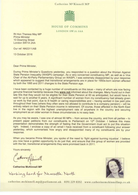Letter to prime minister on waspi campaign catherine mckinnell mp letter to prime minister on waspi campaign spiritdancerdesigns