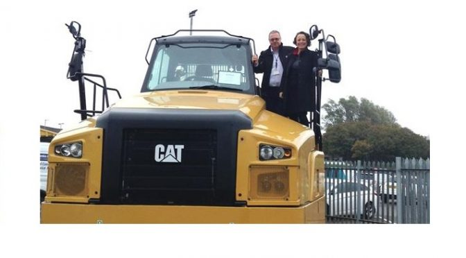 Catherine visits Caterpillar Peterlee