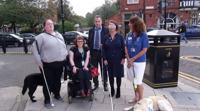 MP Catherine undertakes Gosforth blindfold challenge