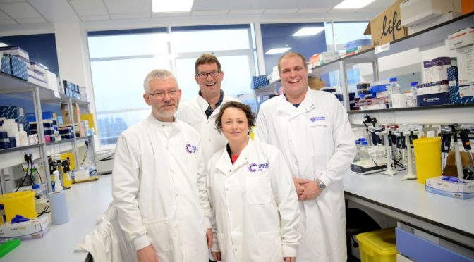 Newcastle MP dons lab coat to learn how research saves lives