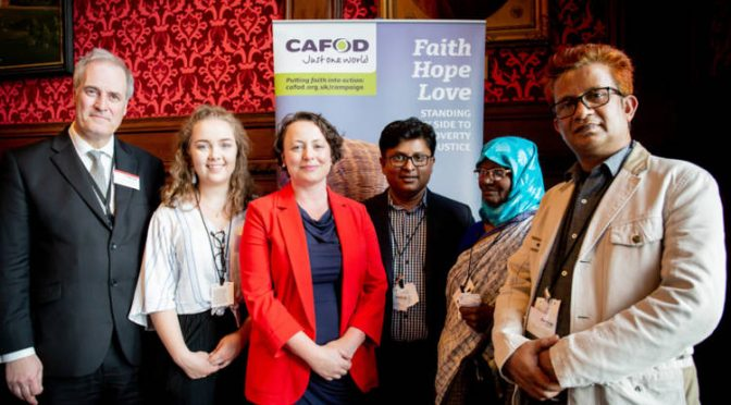Catherine hosts CAFOD campaigners in Parliament