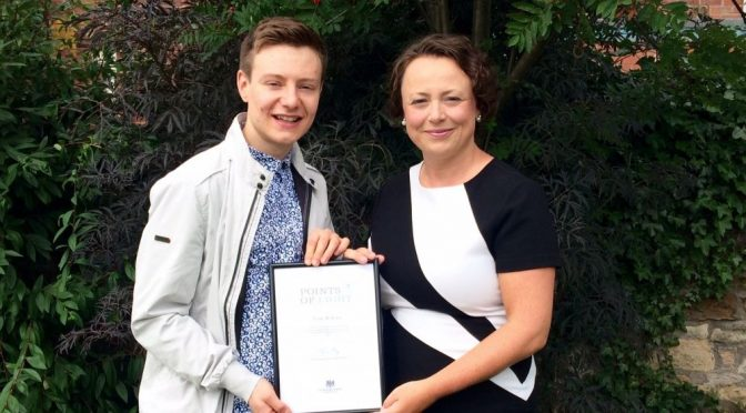 Outstanding young mental health campaigner recognised by PM