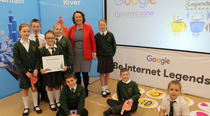 Newcastle MP joins Google in online safety school visit