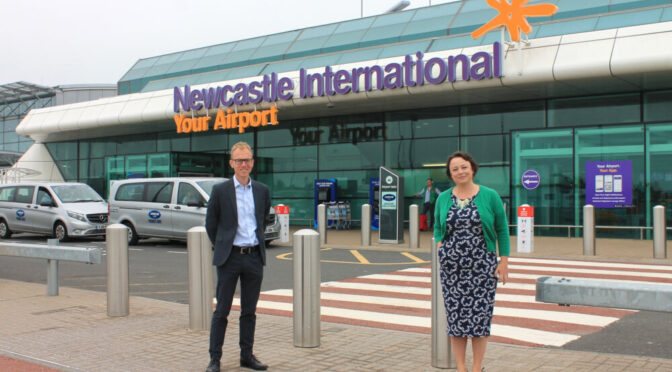 Newcastle Airport welcomes Catherine and calls for more support from the Government