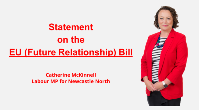 Statement on the EU (Future Relationship) Bill