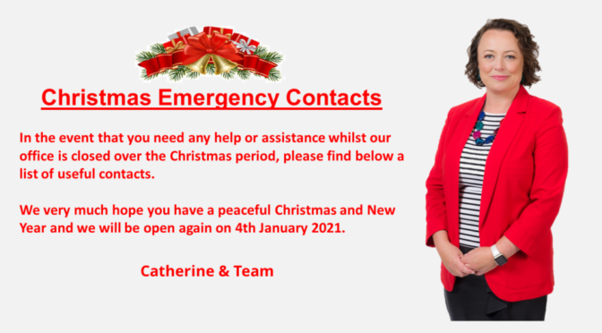 Christmas Emergency Contacts