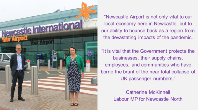 NEWCASTLE MP BACKS CALL FOR COMPREHENSIVE RECOVERY PACKAGE FOR AVIATION, TRAVEL AND TOURISM