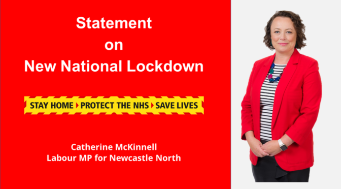 Statement on New National Lockdown