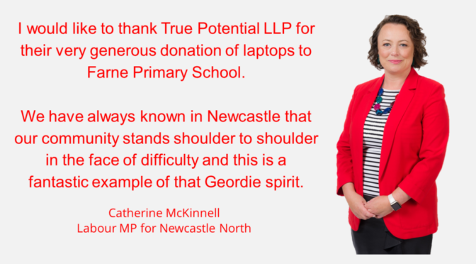 LAPTOP SUPPORT TO HELP CHILDREN REACH THEIR TRUE POTENTIAL WELCOMED BY LOCAL MP.