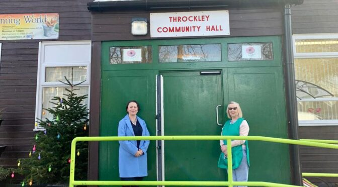 CATHERINE VISITS THROCKLEY COMMUNITY HALL AHEAD OF SPECIAL EASTER DELIVERIES