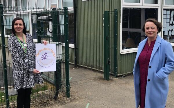 CATHERINE CELEBRATES NORTH FAWDON PRIMARY'S THE SMALLEST THINGS PREM AWARE STATUS